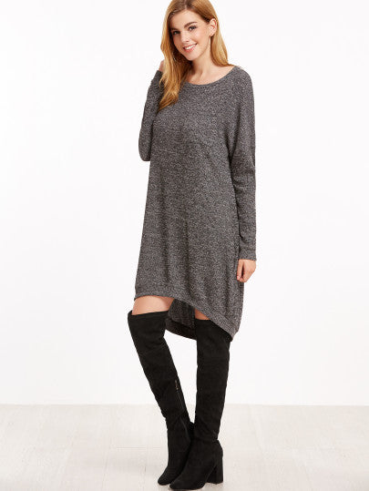 Grey Off the Shoulder Dress