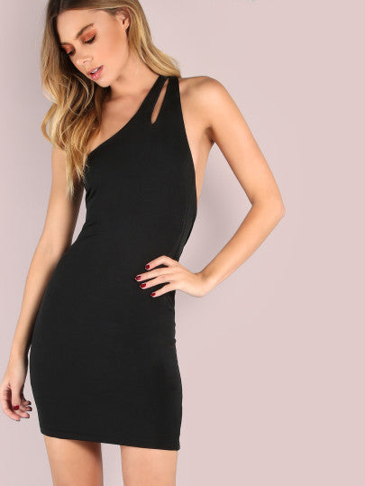 One Shoulder Dress Bodycon Mini Dress Style