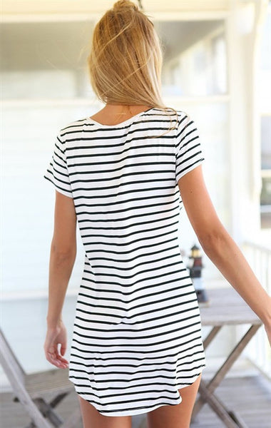 Striped Dress in Black and White