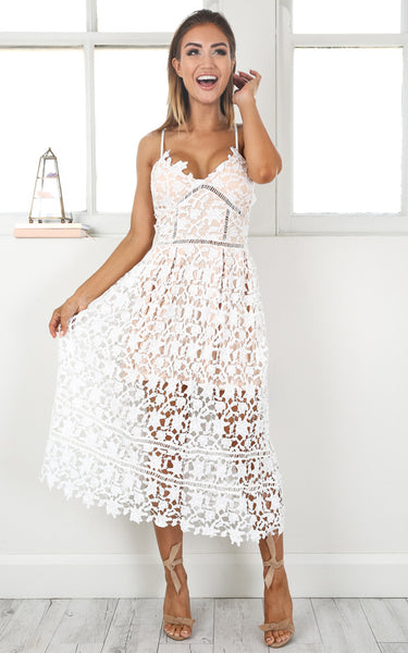 Summer White Out Lace Crochet Dress Lyfie