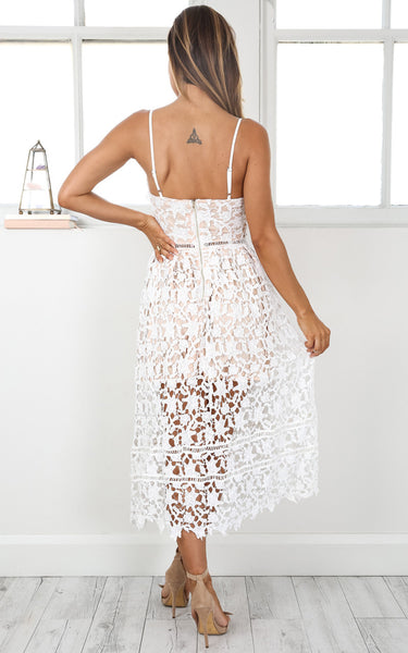 ♡  Summer White Out Lace Crochet Dress ♡
