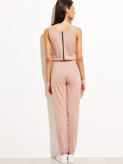 Trendy Pink Jumpsuit