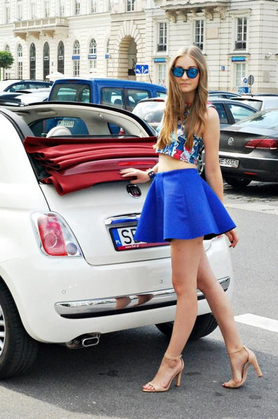 a78c4a991f Skater Skirt Mini Blue Sexy Trendy Skirt – Lyfie