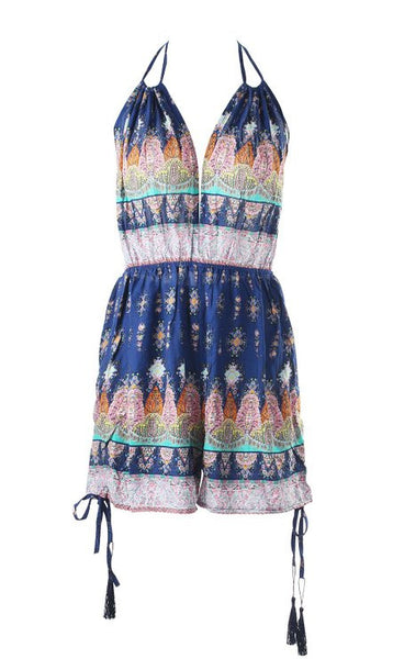 Boho Print Trendy Playsuit