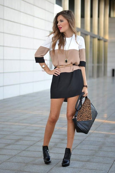 White Coffee Black Dress