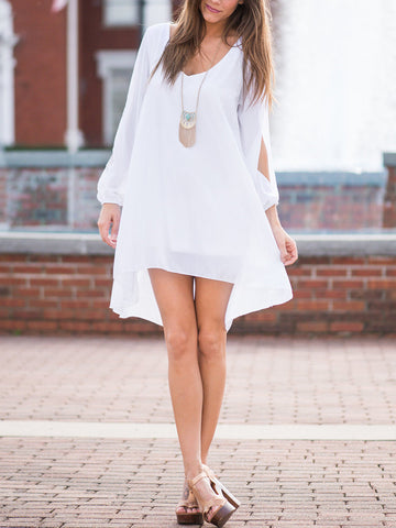 White Trendy Shift Dress