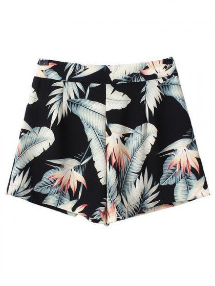 Floral Print Tropical Shorts