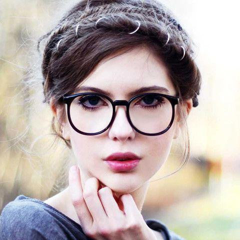 Vintage Round Clear Lens Glasses