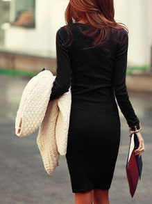 Little Black Dress Sexy with Long Sleeves