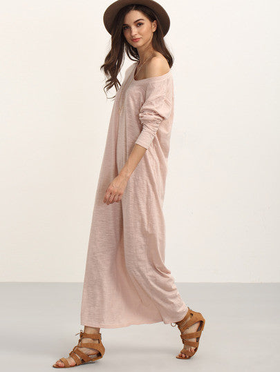 Long sleeve casual maxi dresses