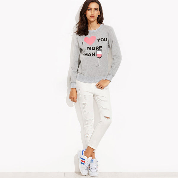 I ♡ you more than Jumper Trendy Sweater