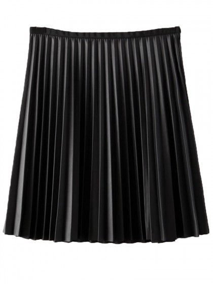 acdba5de01 Pleated Black Skirt High Waist Black Skirt – Lyfie