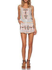 Tribal Print Boho Romper Playsuit
