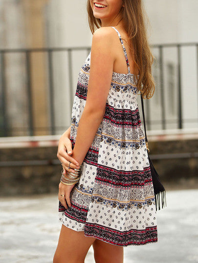 Tribal Print Casual Cami Dress