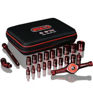 "Red Pro Tools 22pc Socket Set 1/4"" & 3/8"" Drive Soft Case Metric Tools"