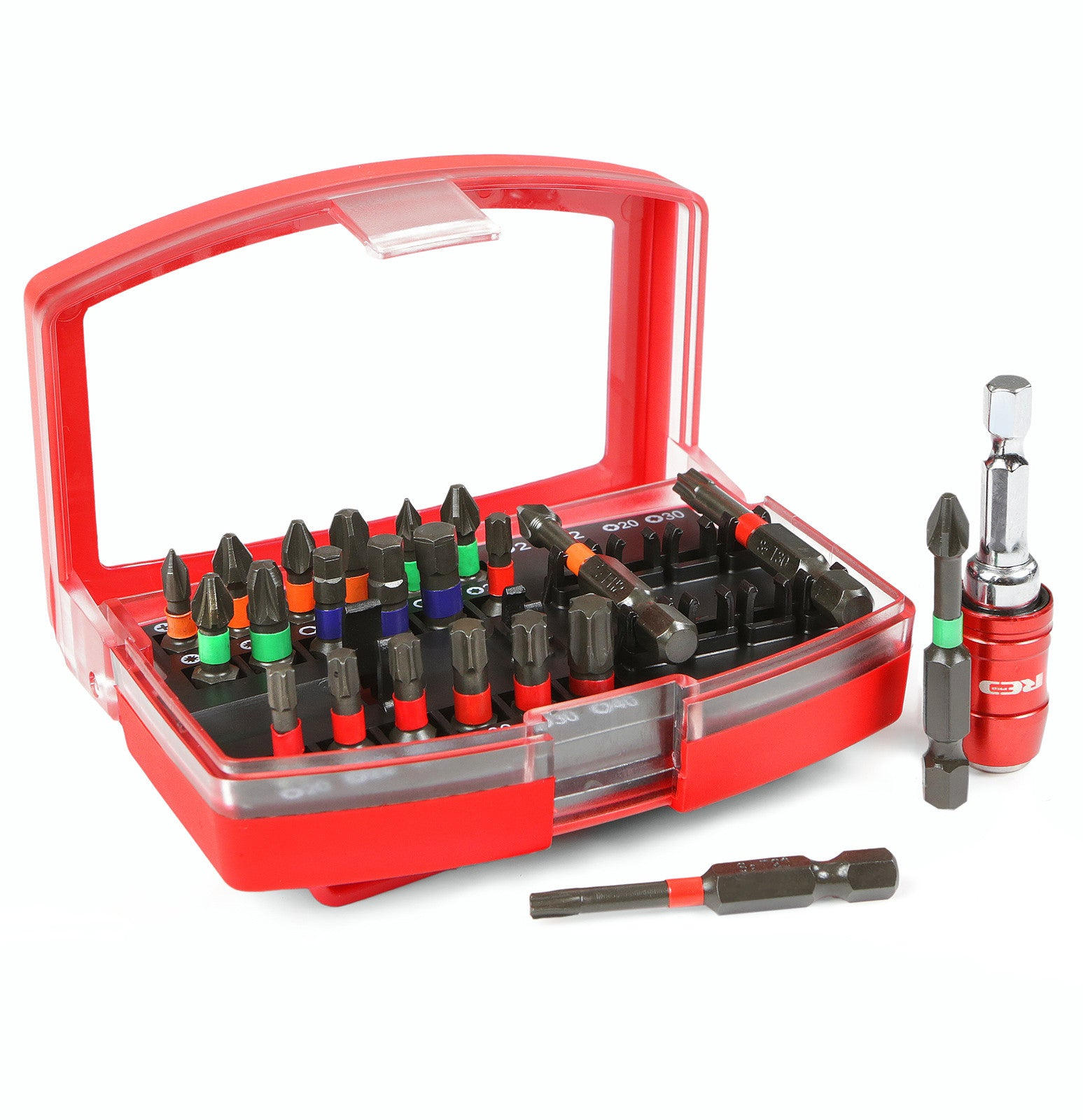 Red Pro Tools 23pc Impact Bit Set