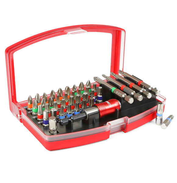 Red Pro Tools 42pc Screwdriver Bit Set