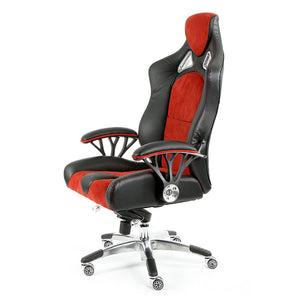 ProMech Racing Speed-998 Office Racing Chair Upholstered in Black & Crimson Executive Office Chair Designer Office Racing Chair Ergonomics E-Sports