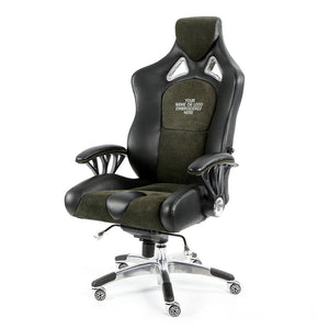 ProMech Racing Speed-998 Office Racing Chair Shadow Alcantara Italian Leather Executive Office Chair Bucket Seat Computer Chair Gaming Chair