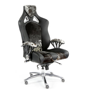 Promech Racing Speed-998 Office Racing Chair Black Cowhide Executive Chair Ergonomics