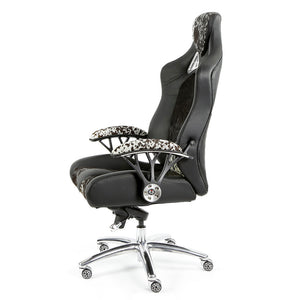 Speed-998 Office Racing Chair Black Cowhide Executive Chair Ergonomics