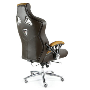 ProMech Racing Speed-998 Office Racing Chair Brown Cowhide