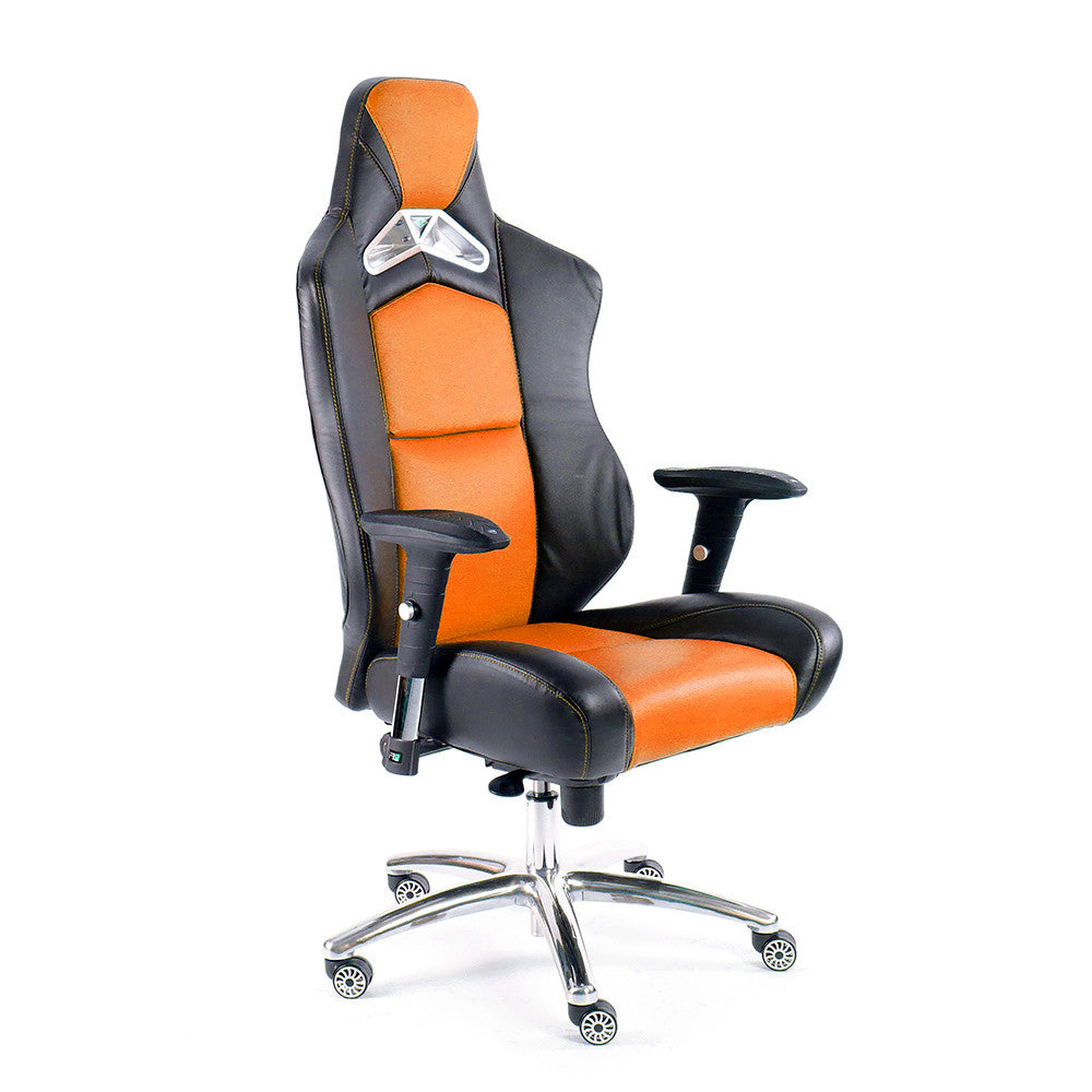 ProMech Racing GT-992 Office Racing Chair Phoenix Orange (PU)