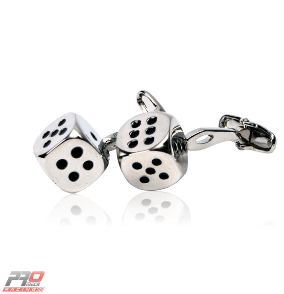 ProMech Racing Dice Cufflinks Giftbox Set with Racing Sound Box