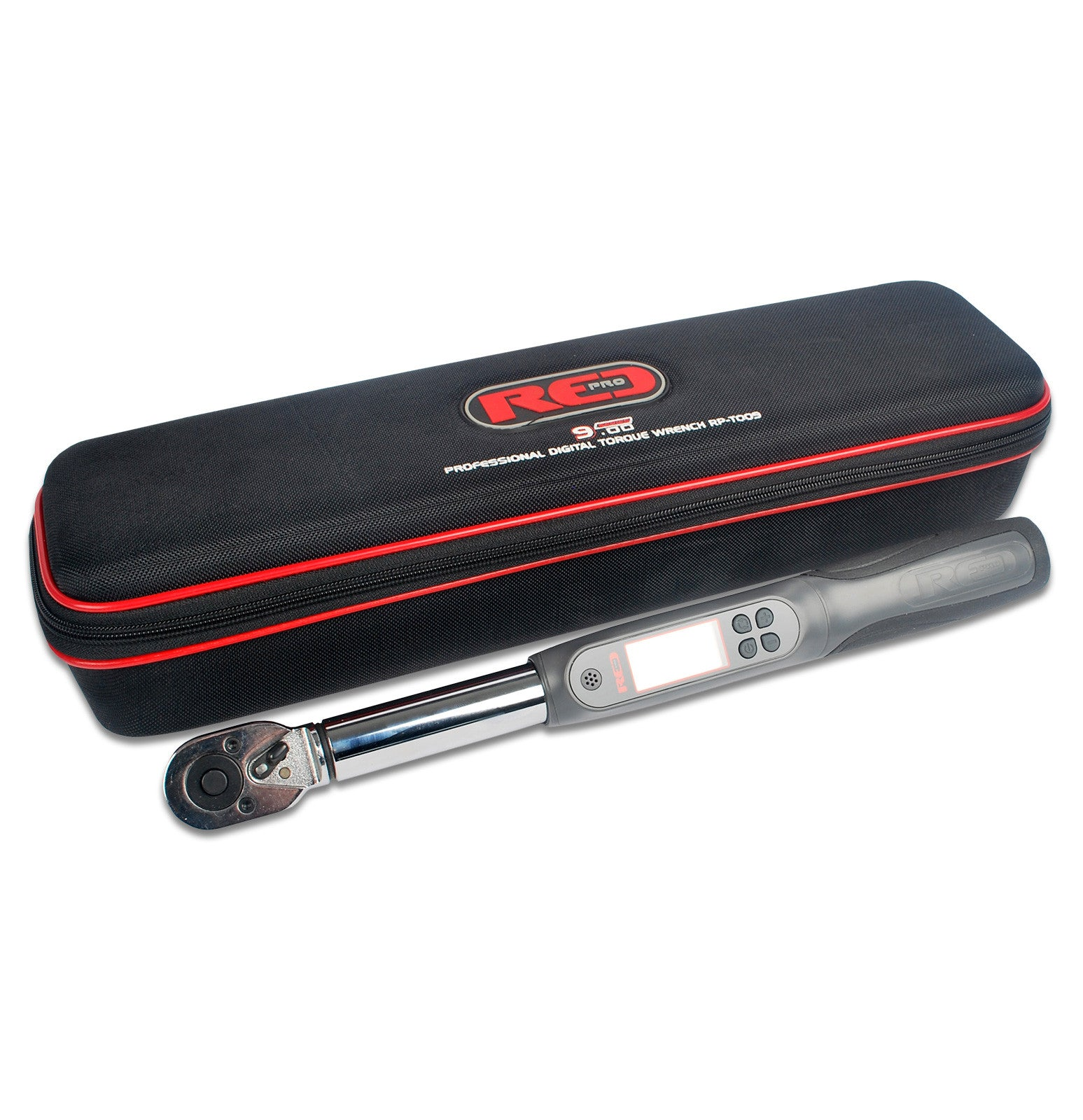 "Red Pro Tools Digital Torque Wrench 1/2"" Fitting 430mm"