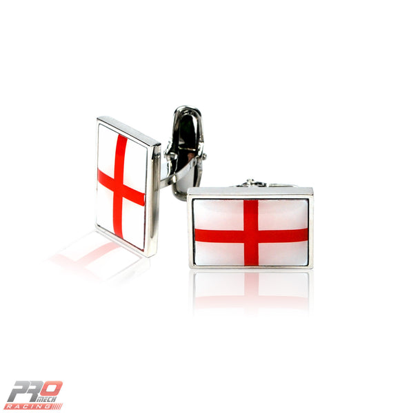 ProMech Racing St George's Cross Cufflinks Giftbox Set