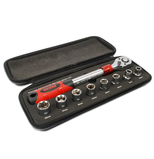 Red Pro Tools Extendable Ratchet Chrome Vanadium
