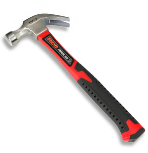 Red Pro Tools Fibreglass Claw Hammer 16oz