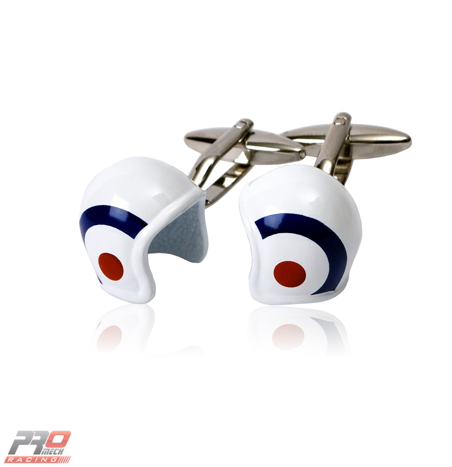 ProMech Racing Helmet Cufflinks Giftbox Set with Racing Sound Box