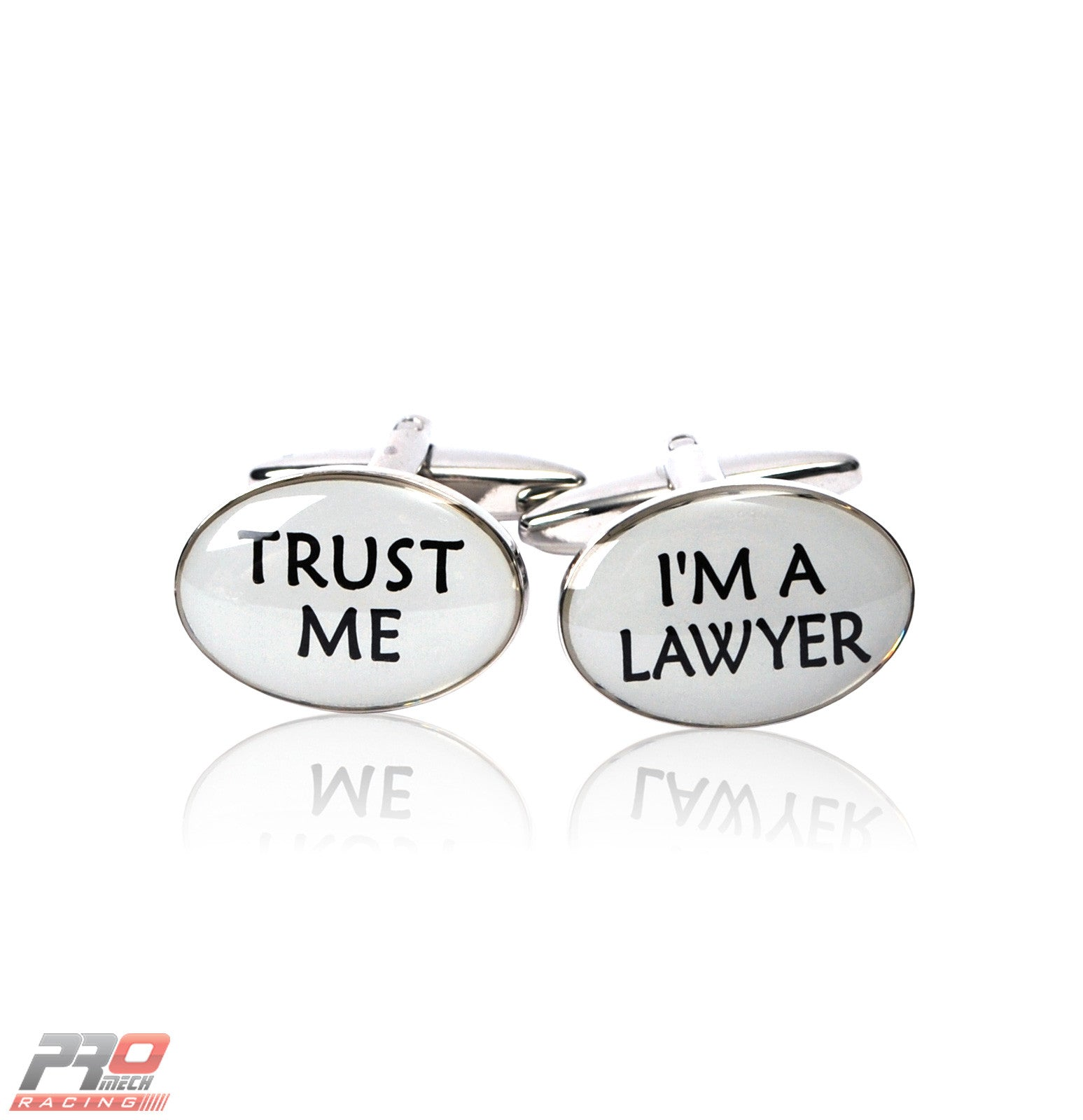 "ProMech Racing ""Trust Me"" ""I'm a Lawyer"" Cufflinks with Racing Sound Box Set"