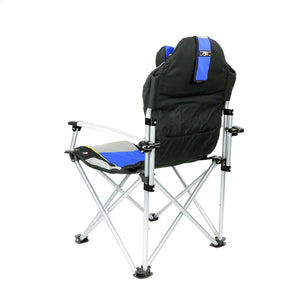 ProMech Racing Fold-Up Chair Paddock Chair with Carry Bag - Ripide Blue Track Day Seat Garden Fold-Up Chair