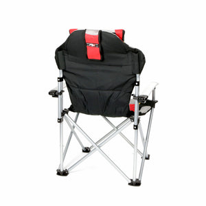 ProMech Racing Fold-Up Chair Paddock Chair with Carry Bag - Scarlet Red Track Day Seat Garden Furniture