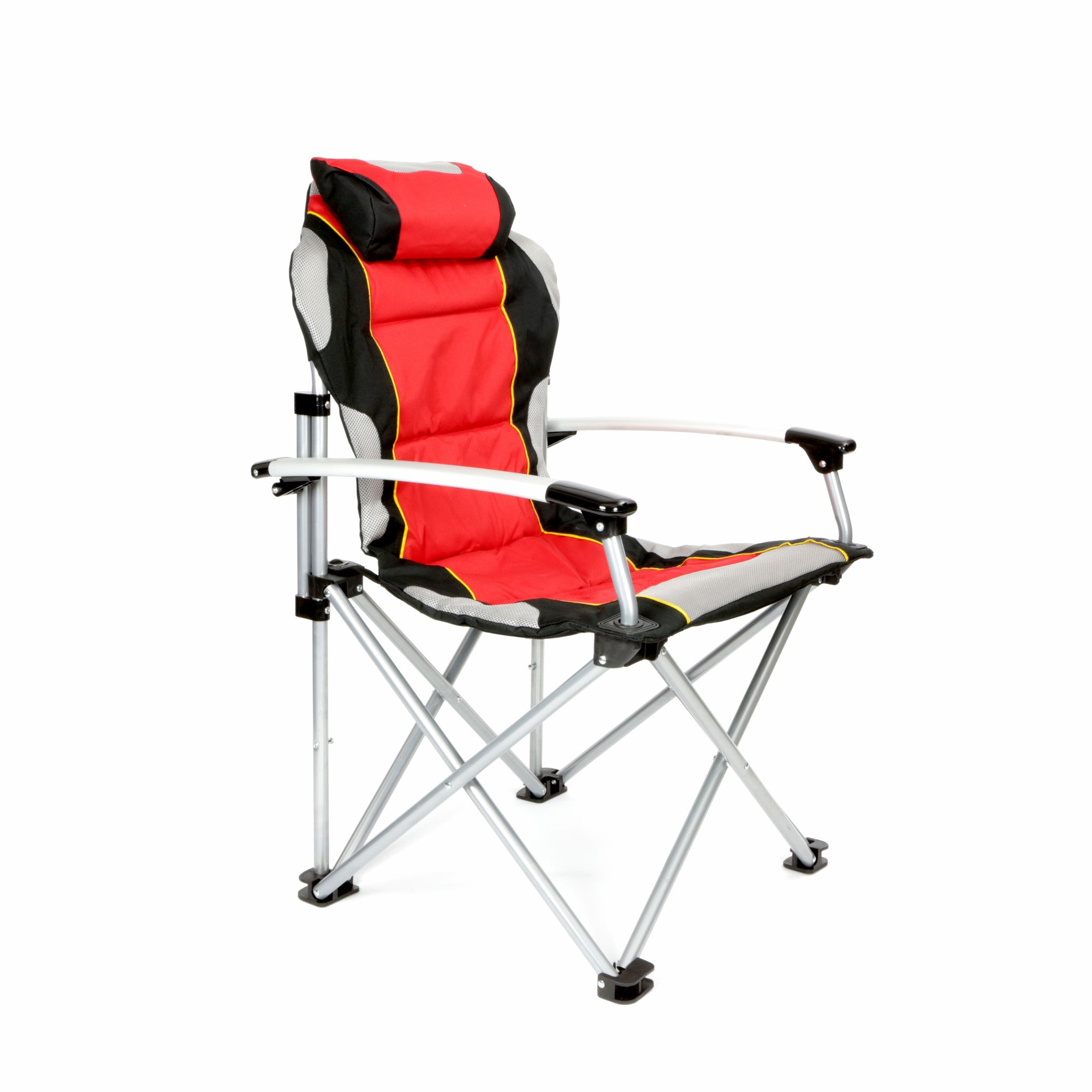ProMech Racing Fold Up Paddock Chair with Carry Bag Scarlet Red