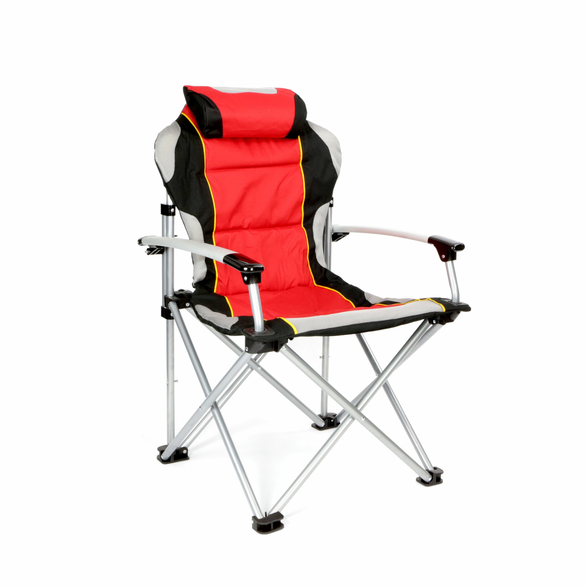 ProMech Racing Fold Up Chair Paddock Chair With Carry Bag   Scarlet Red  Track Day