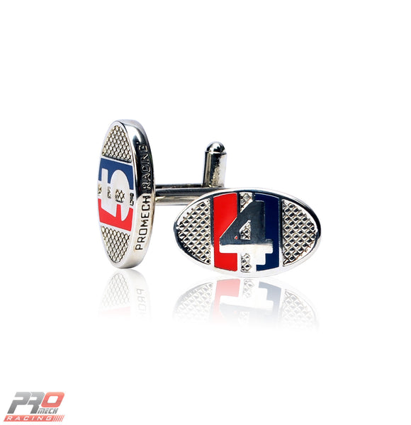 ProMech Racing Racers ID Cufflinks Red & Blue Giftbox Set Racing Sound box