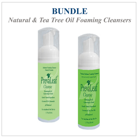 Bundle - PrevaLeaf™ Cleanse Intimate Foaming Cleansers