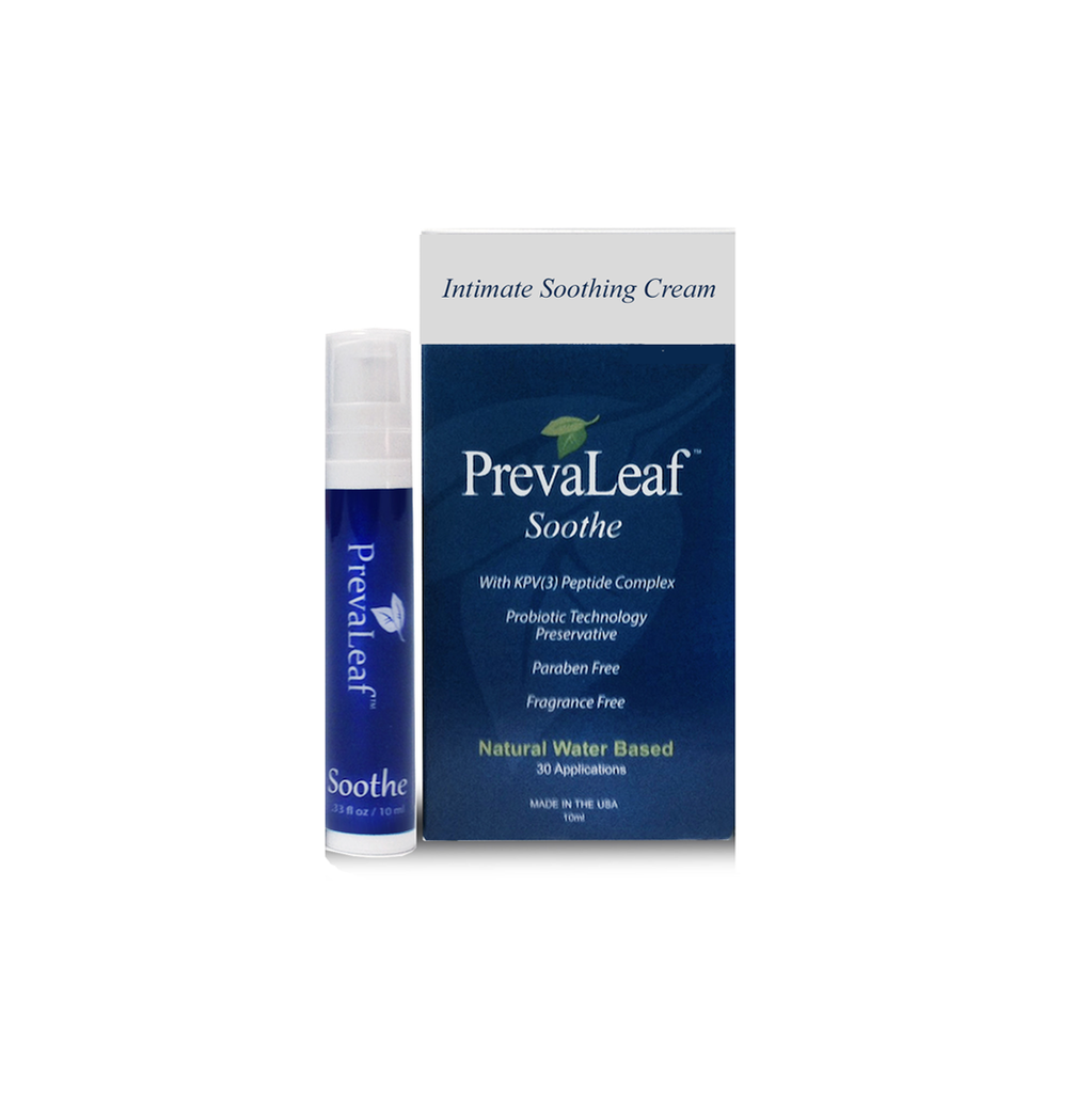 PrevaLeaf™ Soothe Natural Vaginal Soothing Creams 10 ml Airless Pumps.