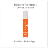 PrevaLeaf™ Probiotic Boost concentrated probiotic technology for vaginal balance.