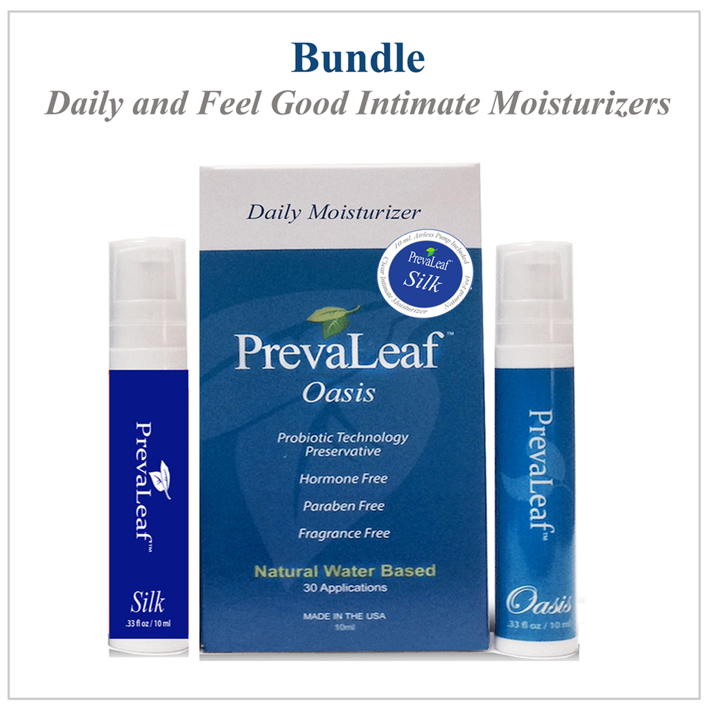 Moisturization Bundle: Prevaleaf™ Silk & PrevaLeaf™ Oasis Natural Intimate Moisturizers - 30 Applications Each