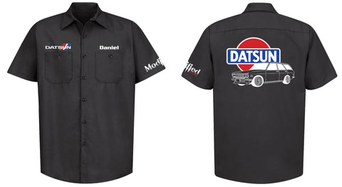 Datsun 510 Wagon Logo Mechanic's Shirt
