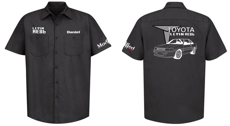 Toyota AE86 Levin Coupe Mechanic's Shirt