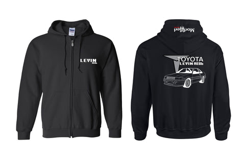 Toyota AE86 Levin Coupe Full Zip Hoodie