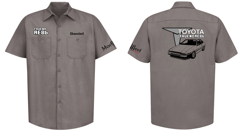 Toyota AE86 Trueno Coupe Mechanic's Shirt