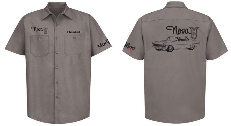 Chevy II Nova Logo Mechanic's Shirt
