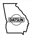 GA Datsun Owners Decal