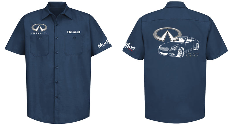 Infiniti G37 Coupe Logo Mechanic's Shirt